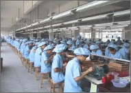 工場で働いている様子の写真